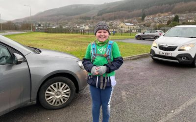 SEREN HAS COMPLETED HER 65 MILE RUN FOR VELINDRE.